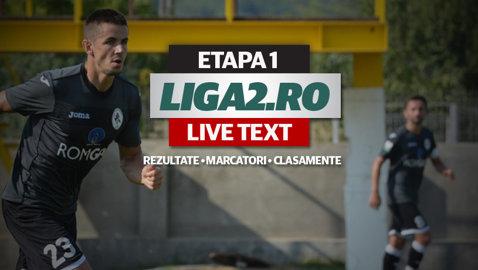 """Rapid, Ceahlăul, Gaz Metan şi """"U"""" Cluj debutează cu victorii, Oţelul e umilită la Clinceni. FC Braşov începe cu un egal. Vezi toate rezultatele primei etape"""