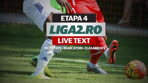 Urmăreşte LIVE desfăşurarea meciurilor etapei a 4-a a Ligii 2