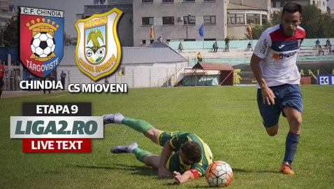 Chindia - CS Mioveni 0-2. Târgoviştea pierde pe teren propriu după aproape 10 luni şi nu mai e lider în Liga 2