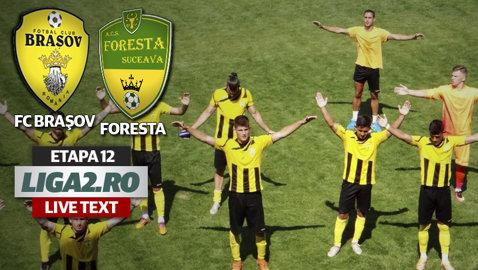 """FC Braşov - Foresta 2-1. """"Stegarii"""" câştigă derby-ul invincibilelor cu toate că au jucat mai bine de o oră în inferioritate numerică"""