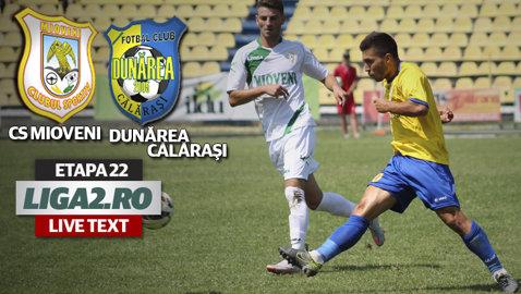 CS Mioveni - Dunărea Călăraşi 1-1. Kanda egalează imediat după ce intră pe teren. Argeşenii cer penalty