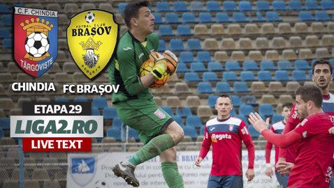 """Cu """"Steagu'"""" jos! Chindia a defilat cu FC Braşov, cu Cherchez din nou imperial, şi se reimplică în lupta pentru promovare"""
