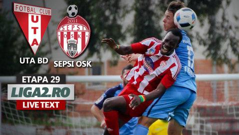 UTA câştigă derby-ul cu Sepsi după un meci electrizant. Adrian Petre a revenit cu gol în momentul oportun. Hadnagy a ratat un penalty