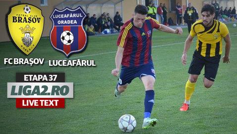 FC Braşov a remizat cu Luceafărul Oradea la posibil ultimul meci din istoria clubului pe stadionul Tineretului. Mesajul suporterilor arătat în minutul 80