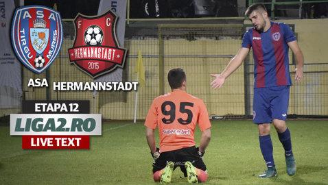 Cântec de lebădă la Târgu Mureş! ASA - AFC Hermannstadt 2-2. Sîrbu a înscris un gol superb! Dan Roman a fost eliminat pe final, la 6 minute după intrarea pe teren