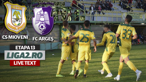 Egal alb în derby-ul Argeşului! CS Mioveni - FC Argeş 0-0. Până acum, cele două echipe nu remizaseră niciodată