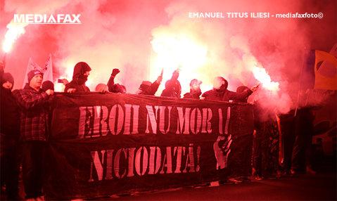"""Suporterii Politehnicii au mărşăluit la Timişoara pentru al 12-lea an consecutiv în cinstea eroilor Revoluţie din decembrie 1989! """"Cine uită e complice"""""""