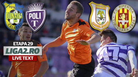 Dunărea trece şi de ASU Poli şi defilează către Liga 1. Ripensia produce surpriza la Mioveni la debutul lui Urican pe banca tehnică