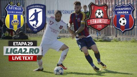 Două eliminări, două goluri şi două penalty-uri ratate în meciul de la Afumaţi. La Sibiu, FC Hermannstadt a umilit-o pe Luceafărul. Rezultatele şi marcatorii