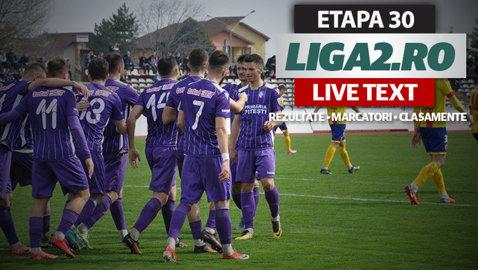 UTA rămâne în lupta pentru evitarea retrogradării şi după meciul cu Pandurii. Dunărea trece cu greu de Miroslava, iar FC Argeş şi Luceafărul au făcut instrucţie. Rezultatele etapei a 30-a