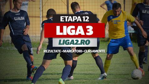Rezultatele şi marcatorii penultimei etape a turului Ligii 3. 4-0, 5-0, 8-0, scoruri record înregistrate vineri