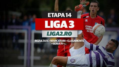 Rezultatele şi marcatorii etapei a 14-a a Seriei a IV-a a Ligii 3. ASU Poli pierde drastic la Becicherecu Mic, dar rămâne pe primul loc