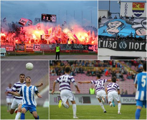 Pasiunea ce nu ţine cont de ligă! 7.500 de fani i-au făcut pe jucătorii lui ASU Poli şi FC Hunedoara să uite că joacă în Liga 3 | VIDEO şi GALERIE FOTO