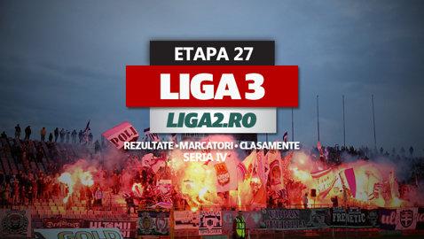 Rezultatele şi marcatorii etapei a 27-a a Seriei a IV-a a Ligii 3. ASU Poli a pierdut cu Deva după ce a avut 2-0. Ighiu bate la Cugir