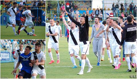 Juventus a ţinut Delta la respect şi a obţinut en fanfare promovarea în Liga 2. Opriţa a câştigat duelul cu Selymes | FOTO şi VIDEO