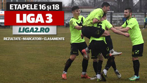 Dennis Man înscrie pentru Steaua II, Daniel Popa bifează o dublă pentru Dinamo II. Rezultatele şi marcatorii etapelor 16 şi 18 ale Ligii 3