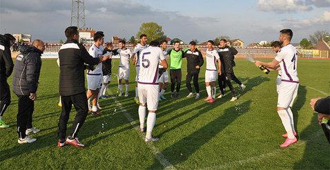 PERFORMANŢĂ | SCM Piteşti a încheiat campionatul Ligii 3 fără să piardă un meci. Alb-violeţii lui Nicolae Dică au doborât toate recordurile în acest sezon