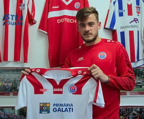 O nouă achiziţie dintr-o ligă superioară pentru Oţelul. Fostul căpitan al naţionalei U19 a semnat cu echipa suporterilor gălăţeni