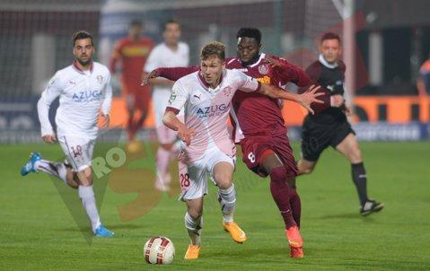 Optimile Cupei. Rapid - CFR Cluj 1-2, Dore şi Chanturia au întors scorul pe final. Petrolul, Pandurii şi CFR Cluj s-au calificat în sferturi
