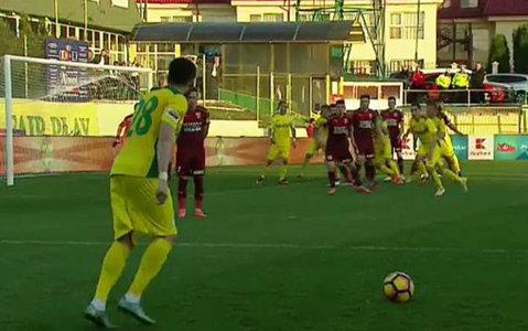 CS Mioveni - FC Voluntari 1-2. Golul lui Gabriel Deac din primul minut de prelungiri îi califică pe ilfoveni în semifinalele Cupei României