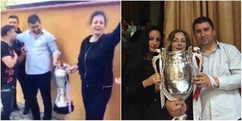 """Leasă regretă că a """"afumat"""" Cupa României: """"Îmi asum greşeala de a expune un trofeu de o asemenea importanţă în cadrul unei petreceri!"""""""