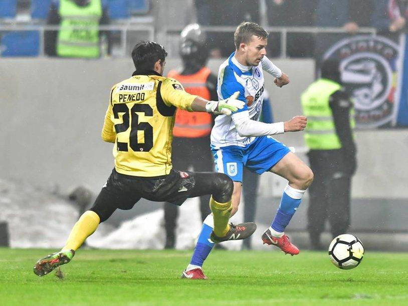 Oltenii făcură knock-out echipa din play-out. Craiova - Dinamo 1-0, iar elevii lui Mangia au devenit favoriţi la câştigarea Cupei României