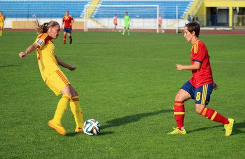 Echipa feminină under 17 a României a remizat cu Serbia, scor 1-1, în calificările pentru Euro