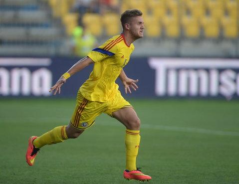 George Puşcaş a fost omul meciului. România U21 - Islanda U21 3-0. Cristi Dulca a debutat cu un succes convingător