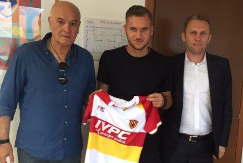 """George Puşcaş, un an la Benevento Calcio. """"O nouă aventură, merg să joc"""""""