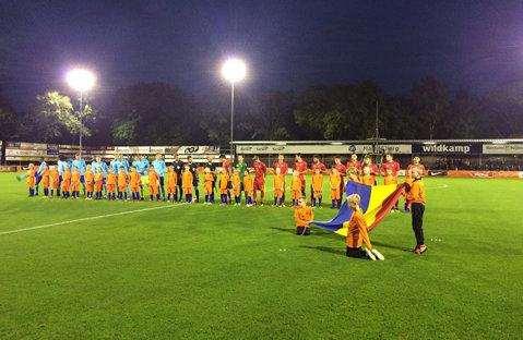 Olanda U19 - România U19 2-1, în primul meci de calificare la Turul de Elită. Adrian Petre a deschis scorul din pasa lui Ianis Hagi, însă România a primit două goluri într-un minut, chiar înainte de pauză