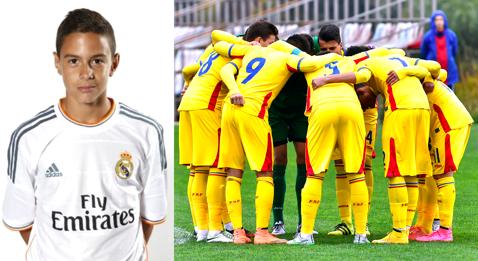 Un jucător de la Real Madrid, convocat în lotul României U17 pentru meciul amical cu Danemarca U17