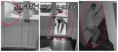 VIDEO - Tamaş s-a făcut de râs: a spart uşa unui bloc şi s-a culcat pe scara imobilului