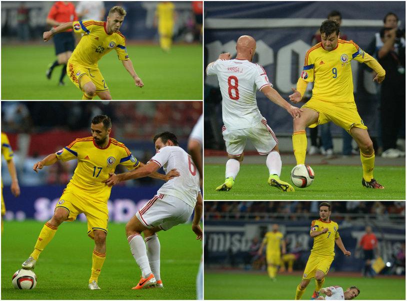 Patru sportivi şi doar un singur fotbalist. Cu excepţia lui Sânmărtean, linia ofensivă a României nu a funcţionat contra Ungariei