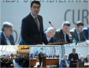 Adunarea Generală în care nu s-a întâmplat nimic. Reprezentanţii cluburilor nu au adus în discuţie schimbarea sistemului competiţional. FOTO | S-a dormit intens în timpul şedinţei, iar tonul l-a dat Iorgulescu