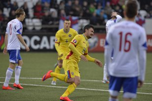 """Prima reacţie a lui Budescu, omul care a marcat două goluri cu Insulele Feroe: """"Cred că e mult spus că am calificat echipa"""". Ce a spus despre eurogolul de la sfârşitul primei reprize"""