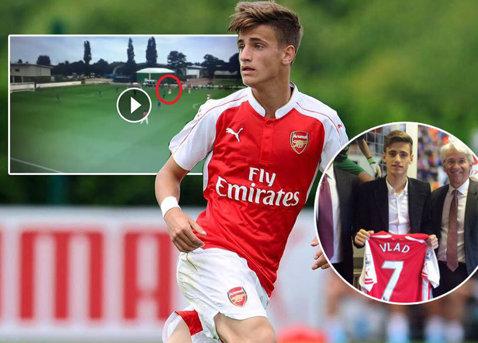 GE-NI-AL! El e viitorul naţionalei! Primul meci ca titular la Arsenal, primul assist de super-clasă pentru Dragomir. VIDEO
