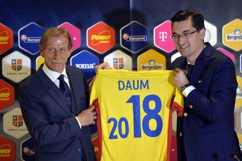 """Au semnat acelaşi contract? Burleanu: """"Daum are ca obiectiv calificarea la Mondiale"""". Daum: """"Am vorbit despre Euro 2020, nu despre Mondiale"""". ProSport confirmat - şeful FRF pregăteşte un """"23 august"""" pentru neamţ"""