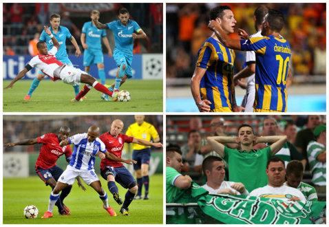 Play-off-ul UCL   Lille - Porto 0-1, Standard - Zenit 0-1, Maribor - Celtic 1-1, Aalborg - APOEL 1-1, Slovan Bratislava - BATE 1-1. Toate rezultatele înregistrate în tur