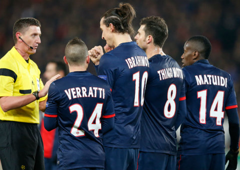 Verratti, Motta, Cabaye şi Bahebeck nu vor juca pentru PSG în meciul cu Ajax, din Ligă