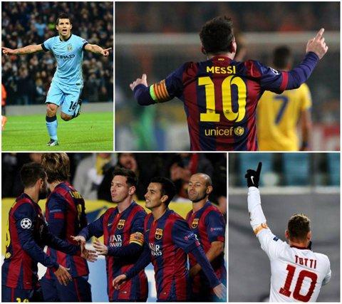 Liga Campionilor | #Messi74. Argentinianul a devenit cel mai bun marcator din istorie, după hat-trick-ul cu APOEL! Kun Aguero, hat-trick în City - Bayern 3-2. Şahtiorul a pierdut cu Bilbao, dar se califică de pe locul doi