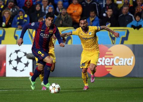 VIDEO | Luis Suarez a marcat primul său gol într-un meci oficial pentru Barcelona. La 27 de ani, uruguayanul are doar două reuşite în Liga Campionilor