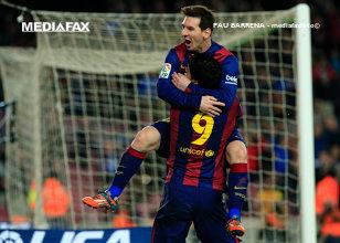 Suarez a fost eroul Barcelonei în Franţa. Reacţia de milioane a lui Messi la adresa uruguayanului după finalul partidei | FOTO