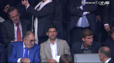 Cadre spectaculoase în loja de pe Bernabeu! FOTO | Ion Ţiriac a urmărit Real - City cu Djokovic şi Nadal. Şi Halep a primit bilete la meci