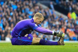 IMAGINEA SERII | Niciun pericol pentru poarta lui Manchester City. Cum a fost surprins Joe Hart în timpul meciului cu Steaua