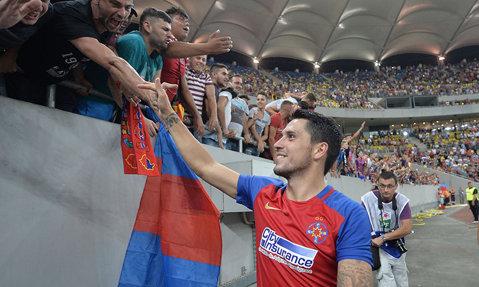 """Stanciu spune că nu stă cu gândul la transfer: """"Mă simt foarte bine la Steaua, sper să trecem de grupele Europa League!"""""""