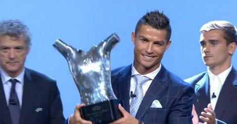 """Cristiano Ronaldo, desemnat de UEFA """"jucătorul european al anului"""": """"A fost cel mai bun sezon din cariera mea!"""""""