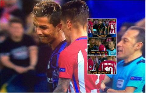"""Nervi întinşi la maximum pe Vicente Calderon. """"Ce se întâmplă, clovnule?"""", i-a spus Torres lui Cristiano Ronaldo. Portughezul a replicat"""