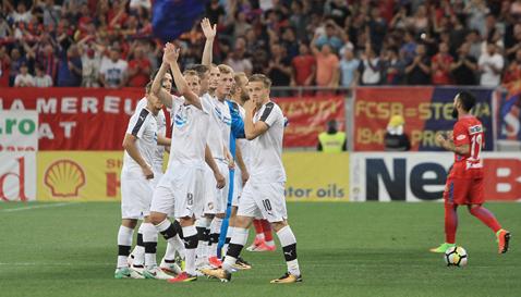 FOTO | Reacţia revoltătoare a unui jucător de la Viktoria Plzen faţă de fanii FCSB-ului