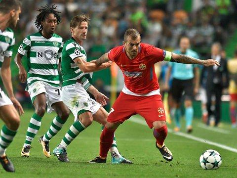 """Mesajul lui Denis Alibec după partida cu Sporting: """"Le mulţumim celor care au fost alături de noi în Portugalia"""""""