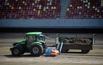 FOTO | Gazonul pe Arena Naţională a fost înlocuit. Suprafaţa de joc este pregătită acum pentru FCSB - Sporting